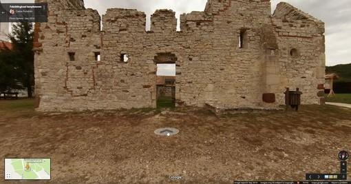 A felsődörgicsei templomrom utcaképe a Google Térképen